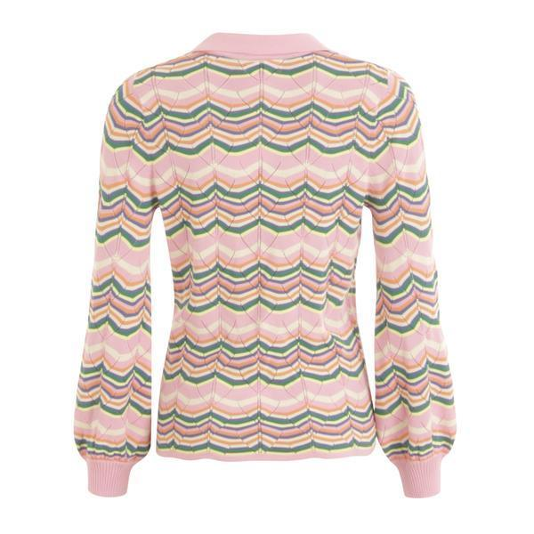 COSTER COPENHAGEN PINK KNIT SWEATER W. RIBBED CUFFS Image