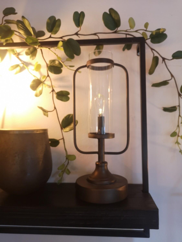 Antique bronze look lantern (battery control) Image