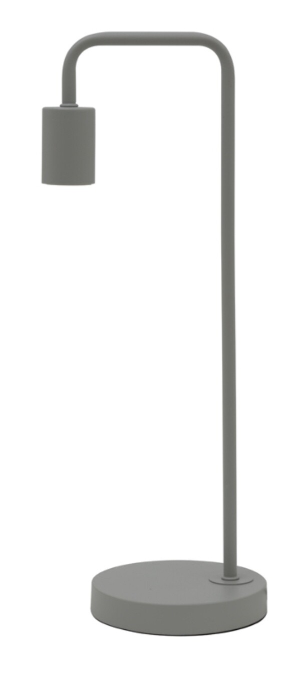 Modern table lamp cement grey Image