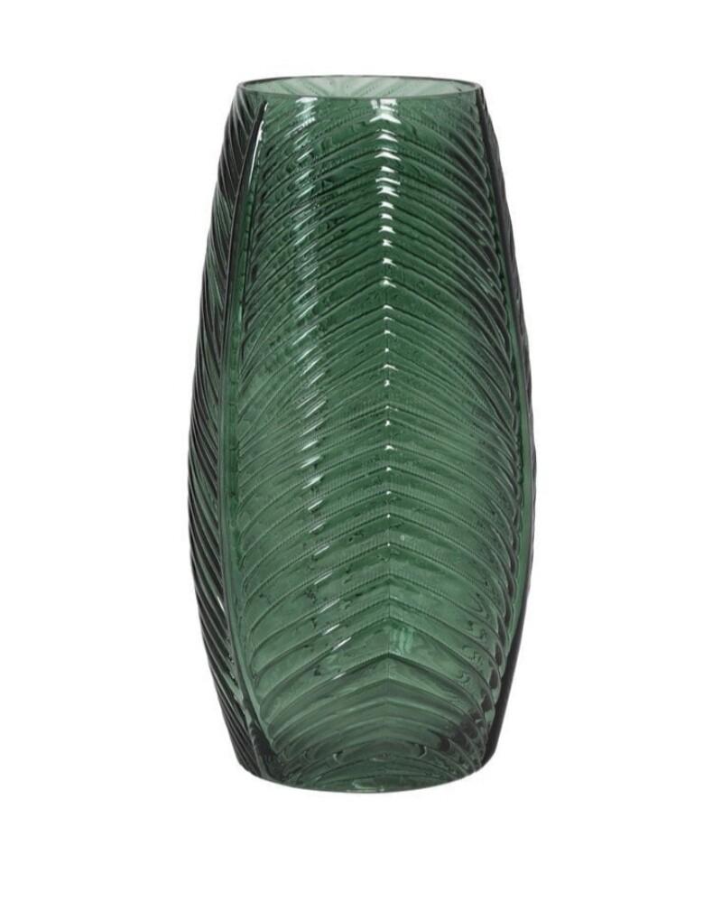 Green glass vase Image