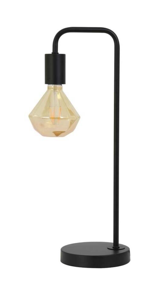 Modern table lamp black Inc bulb Image
