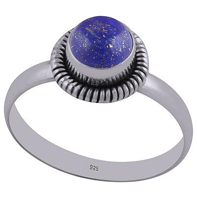 Sterling Silver Lapis Lazuli Ring size 7 Image
