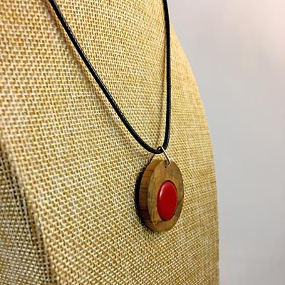 Blessington Driftwood Dot Pendants - Red Image