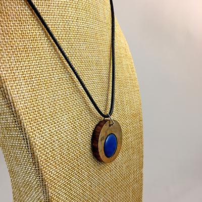 Blessington Driftwood Dot Pendants - Blue Image