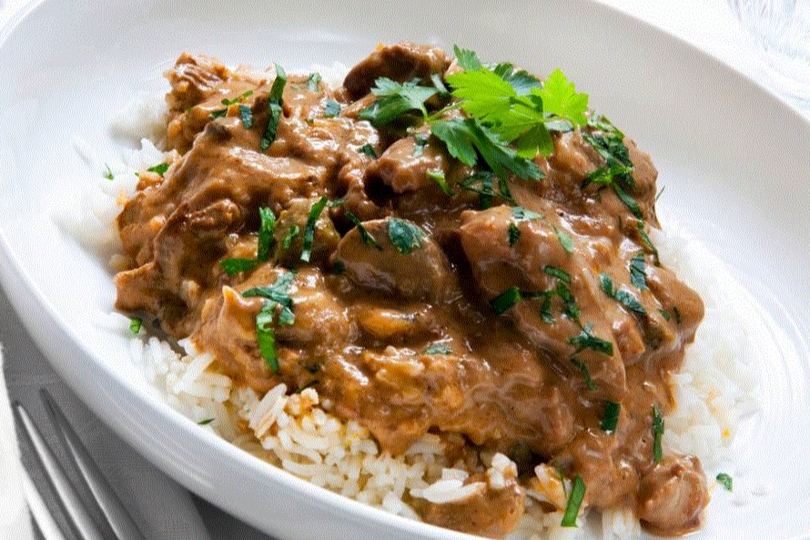 Fresh Beef Stroganoff with Steamed Basmati Rice (€25 min. order Naas/Newbridge etc, €100 for rest North-East Kildare) Image