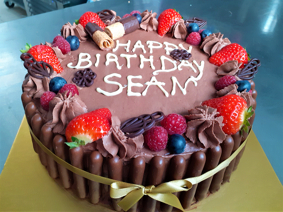 "Premium Birthday Chocolate Cream Cake, 12 (€25 min. order Naas/Newbridge etc, €100 for rest North-East Kildare)"" ( Image"