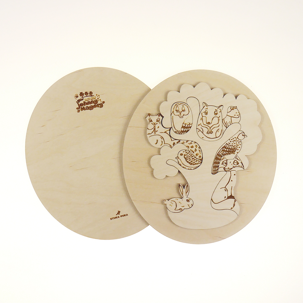 Gaeilge Wooden Wildlife Puzzle Image