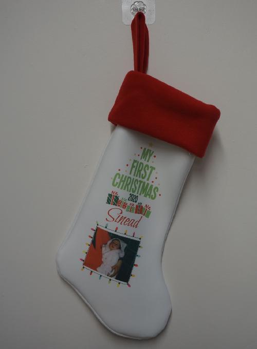 1st Christmas Personalised Stocking Image