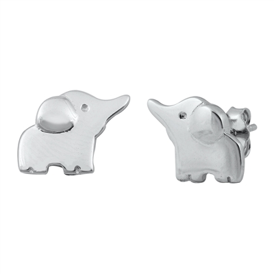 Elephant Silver Stud Earrings Image