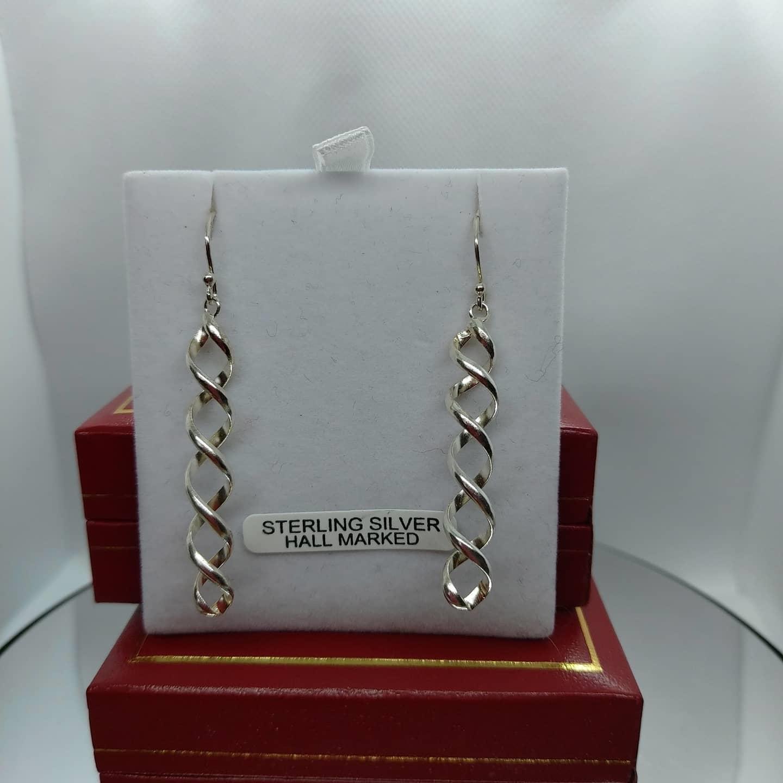 Swirl Sterling Silver Drop Earring  Image