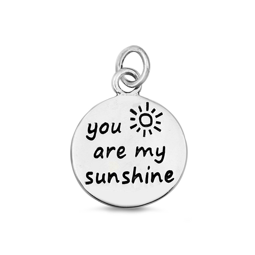 You Are My Sunshine Silver Necklace Image