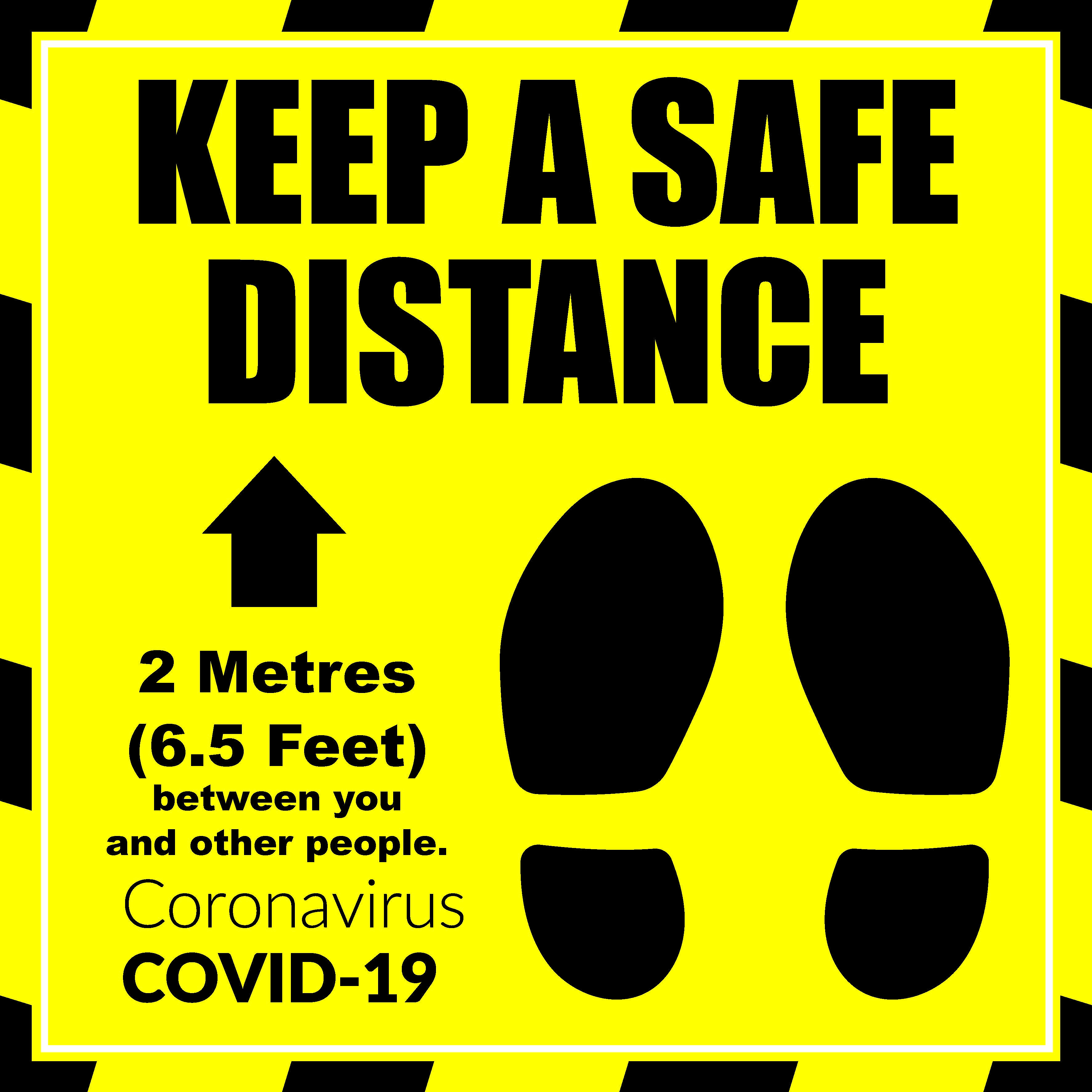 COVID KEEP A SAFE DISTANCE FLOOR GRAPHIC Image