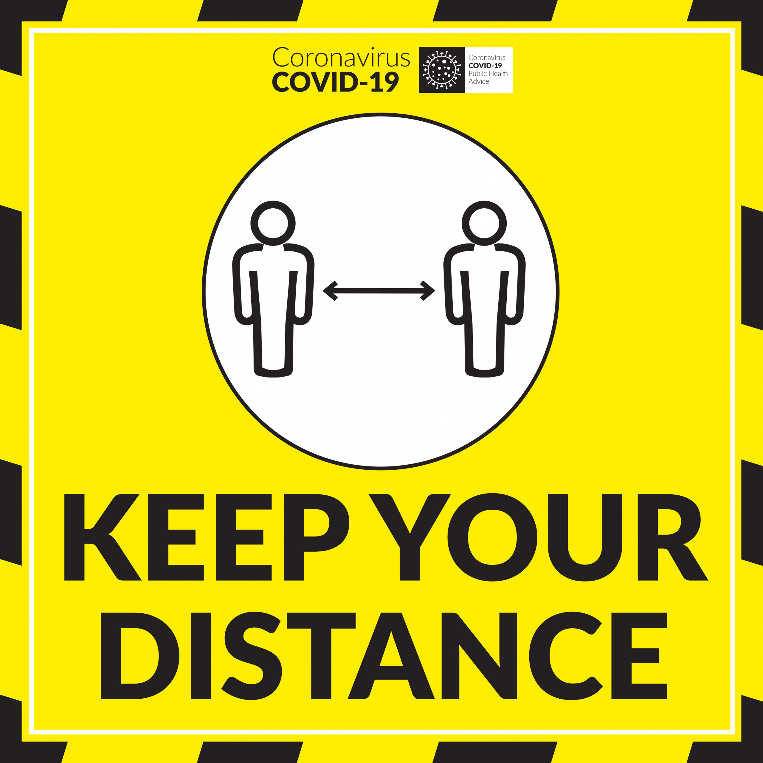 COVID KEEP YOUR DISTANCE FLOOR GRAPHIC Image