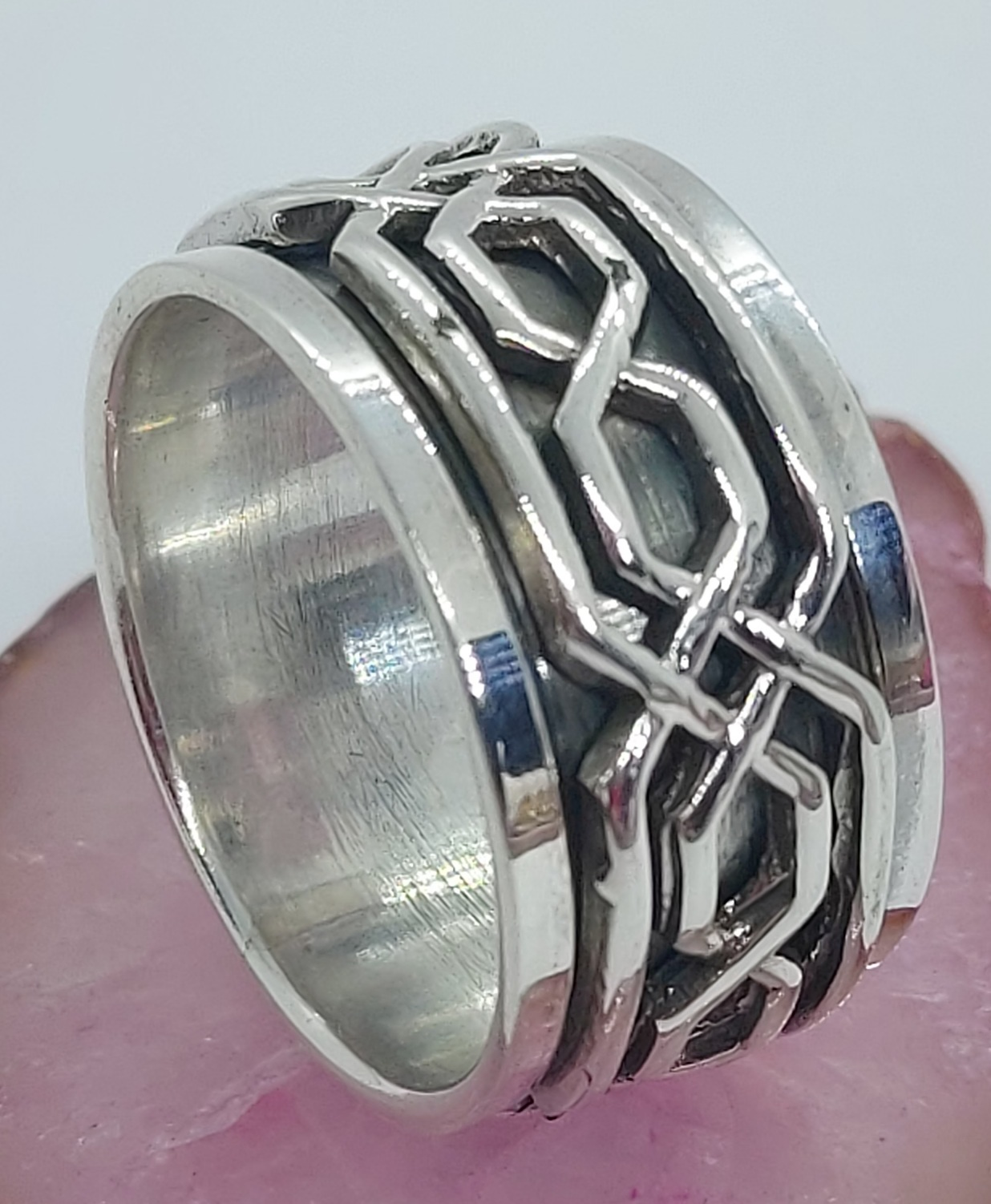 Sterling Silver Spinner Ring Size 10 Image