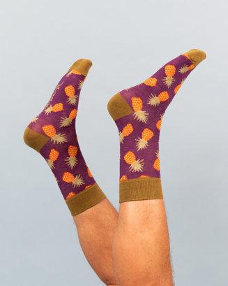 Men's Pineapple Novelty Boxed Socks Image