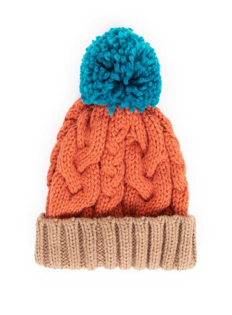 Ladies Orange Woolly Hat Image