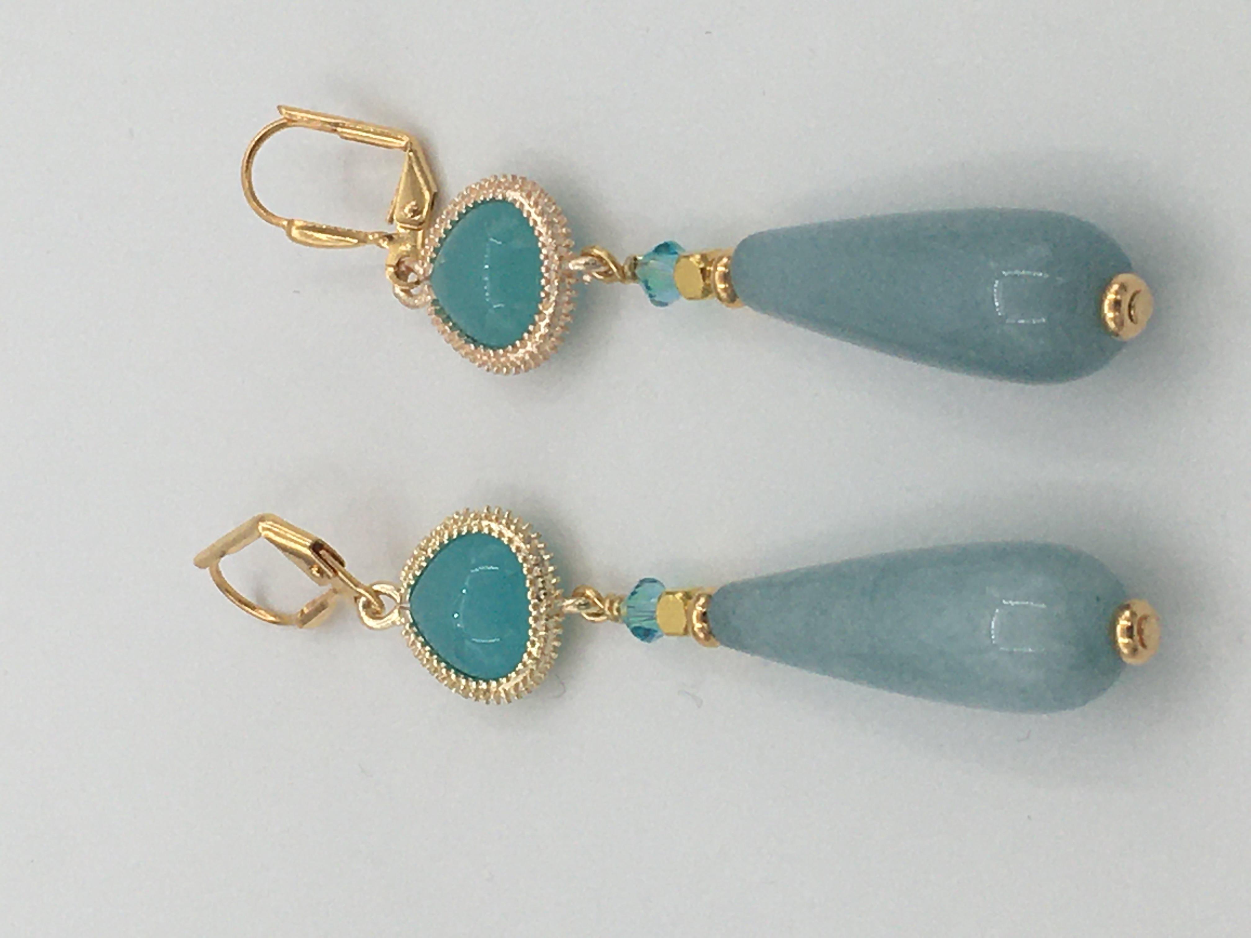 Jade Swarovski Crystals Earrings Image