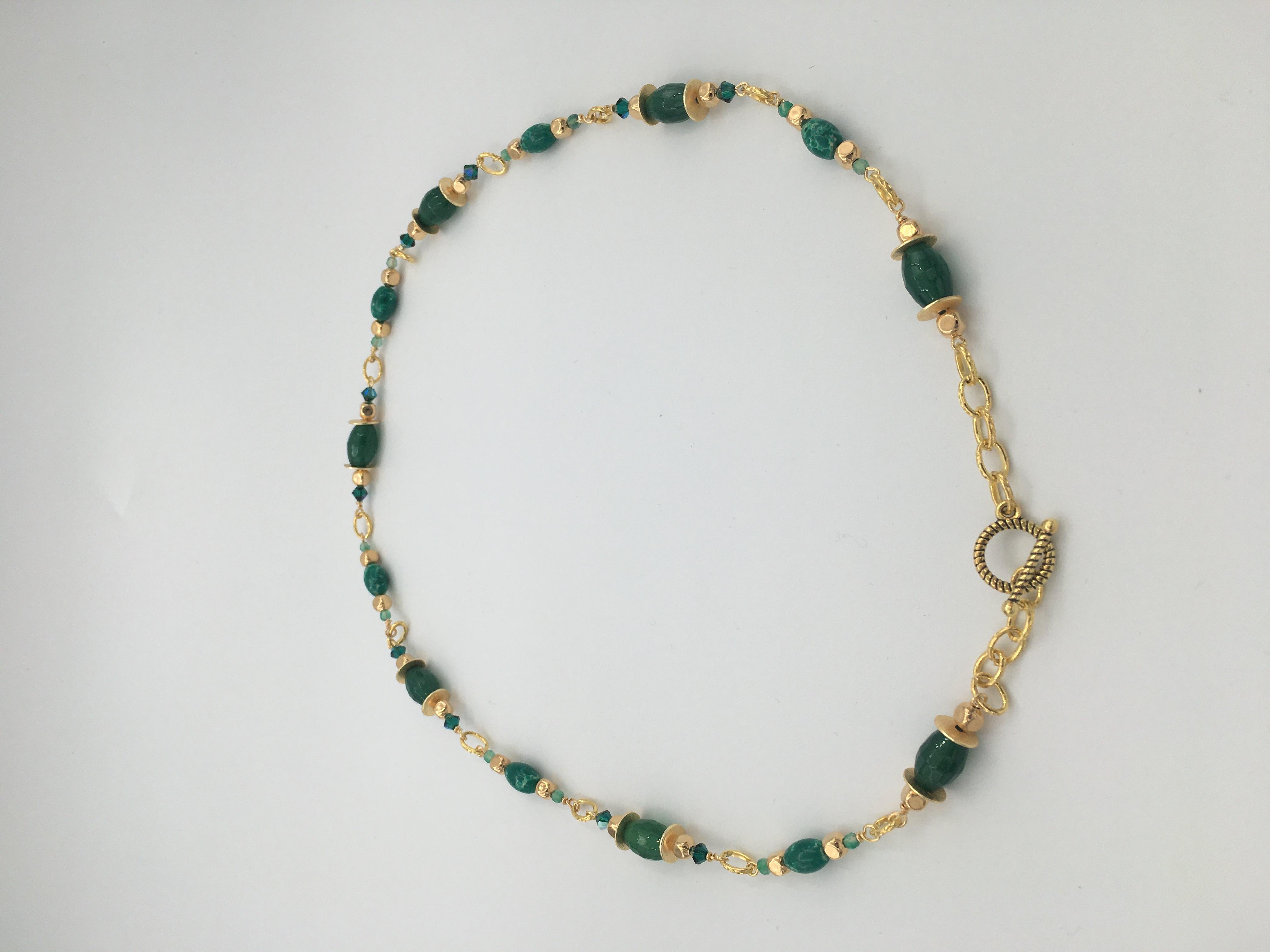Agate Swarovski Crystals - Necklace Image