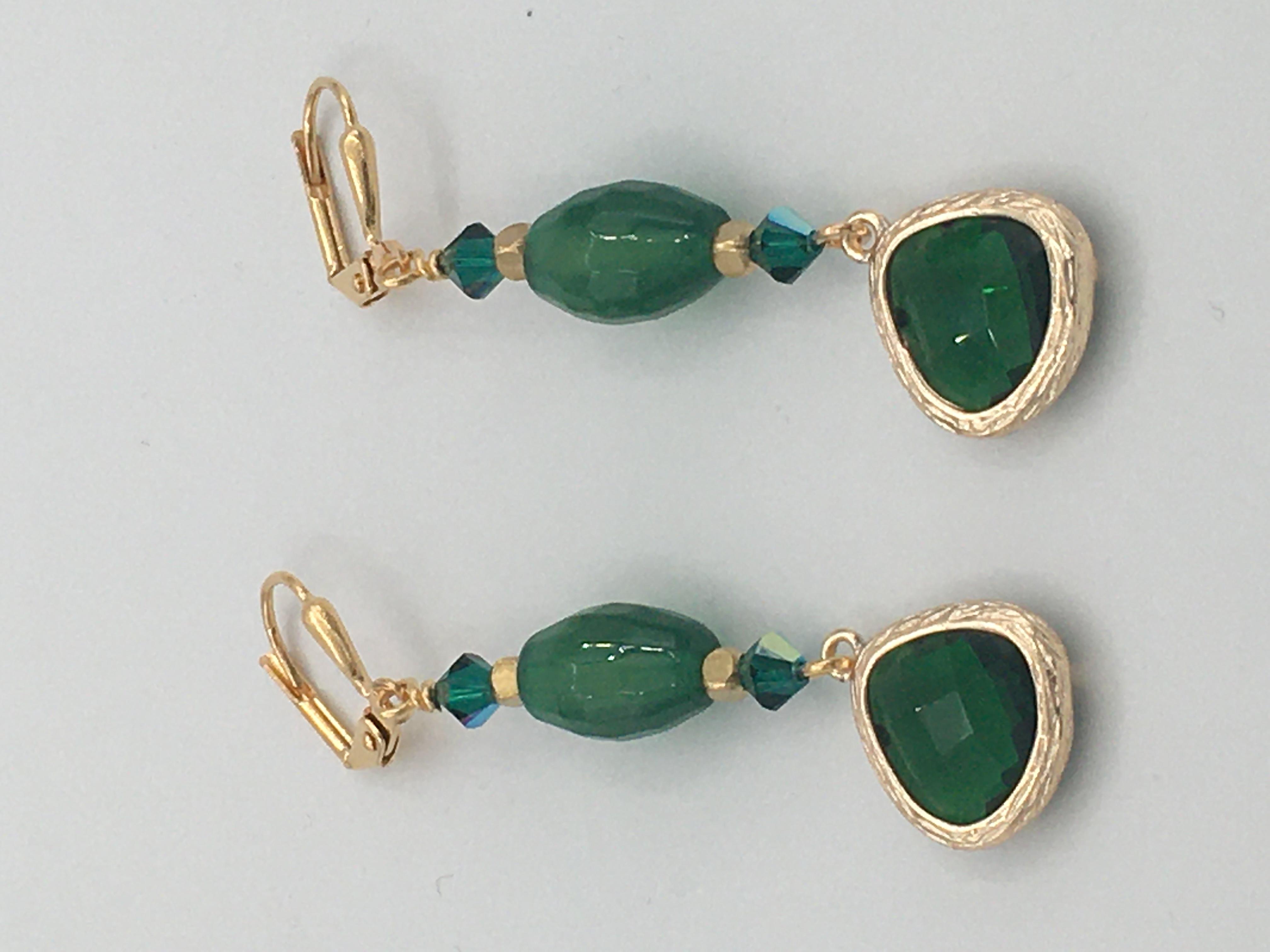 Agate Swarovski Crystals - Earrings Image