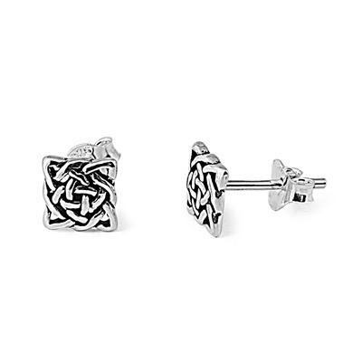 Silver Celtic Studs Image