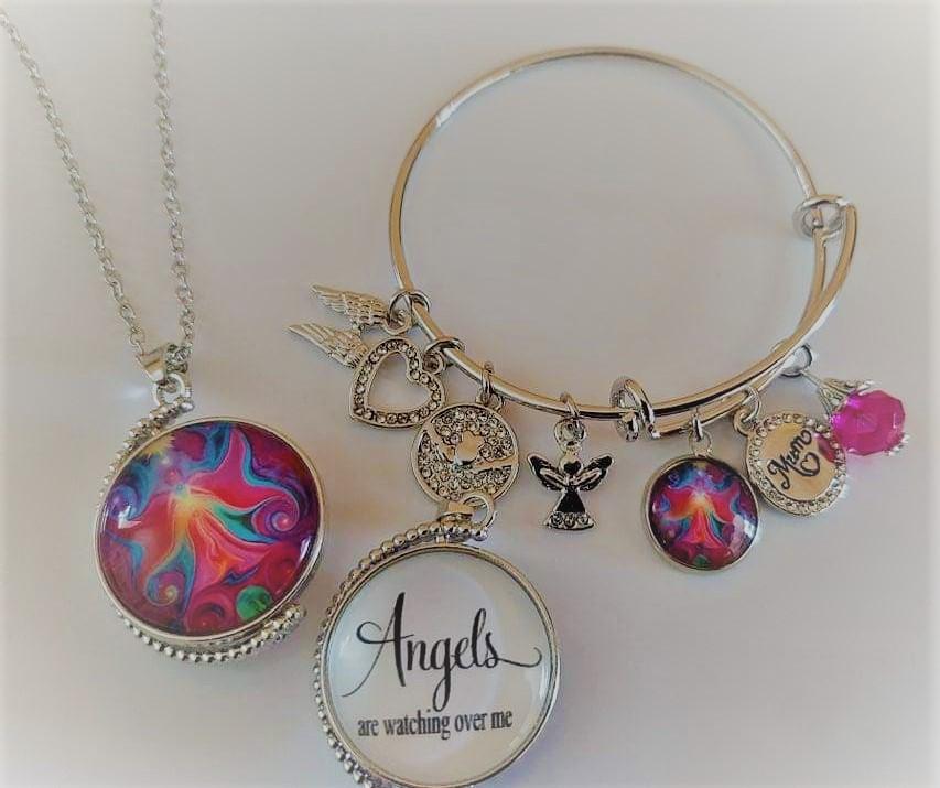 Angel Pendant and Bangle Set  Image