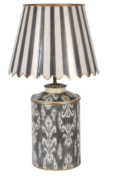 Ivory Lamp W/Scallop Shade Image