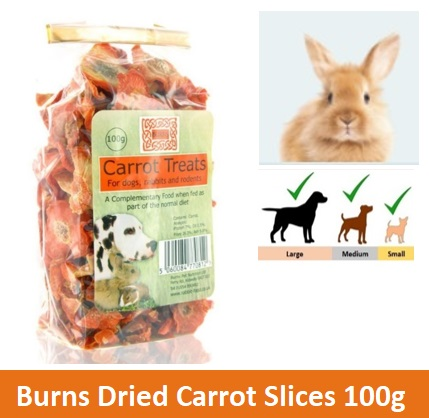 BURNS DRIED CARROT SLICES 100G Image