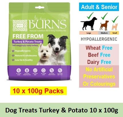 Turkey & Potato Free From Treats 100G x 10 Image