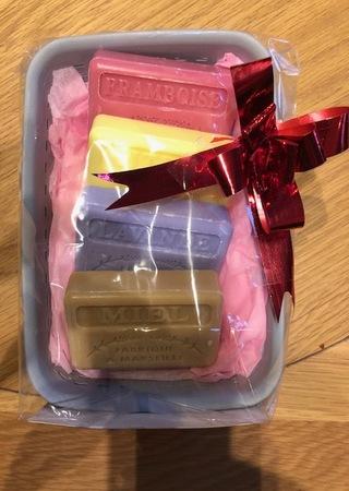 French Market Soap Hamper Image