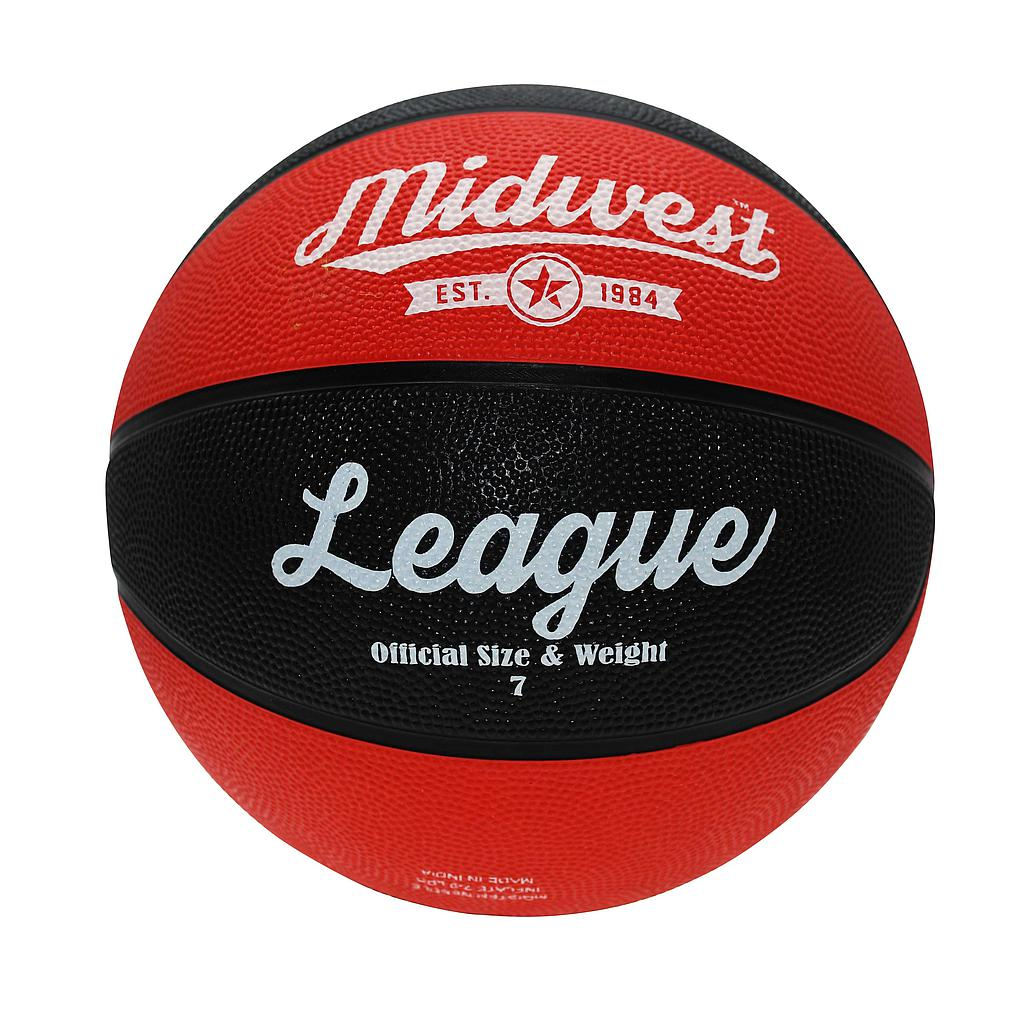 Midwest League Basketball Black/Red Size 5 Image