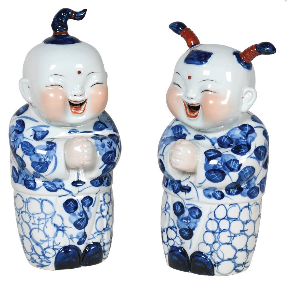 Oriental Happy Boy & Girl Ornaments Image