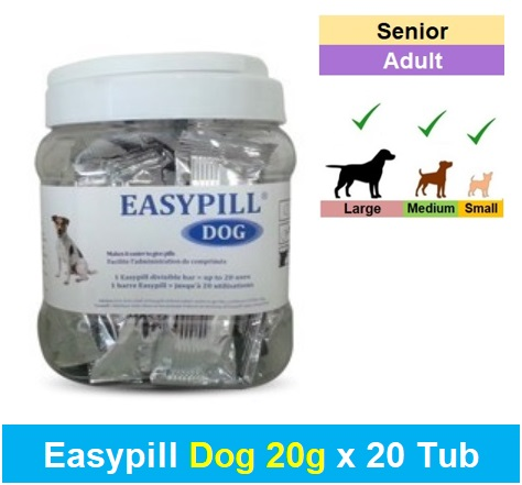 Easypill Dog 20g x 20's Tub Image