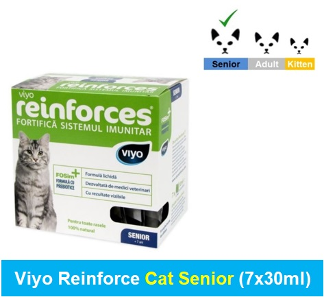 Viyo Reinforce Cat Senior (Qty 1 x (7 x 30ml)) Image