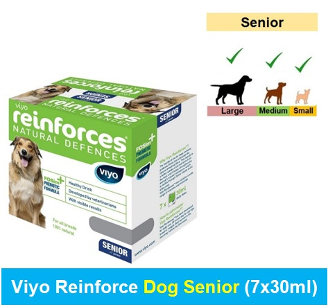 Viyo Reinforce Dog Senior (Qty 1 x (7 x 30ml)) Image