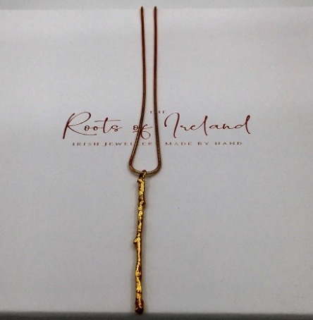 Roots of Ireland - Twig Necklace Gold Plating Image
