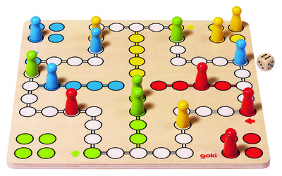 Wooden Ludo Board Game Image