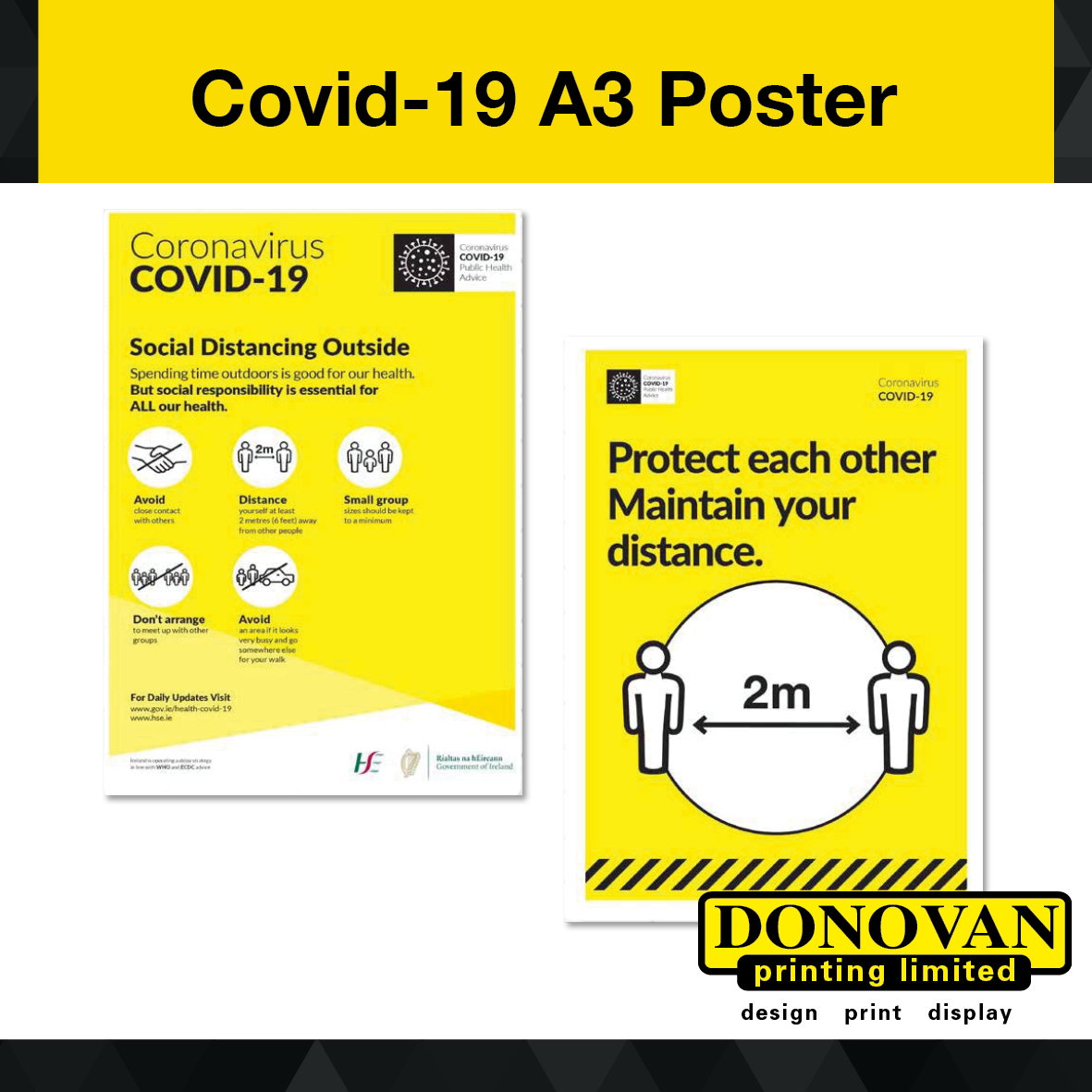 Covid A3 Poster x 5 Copies Image