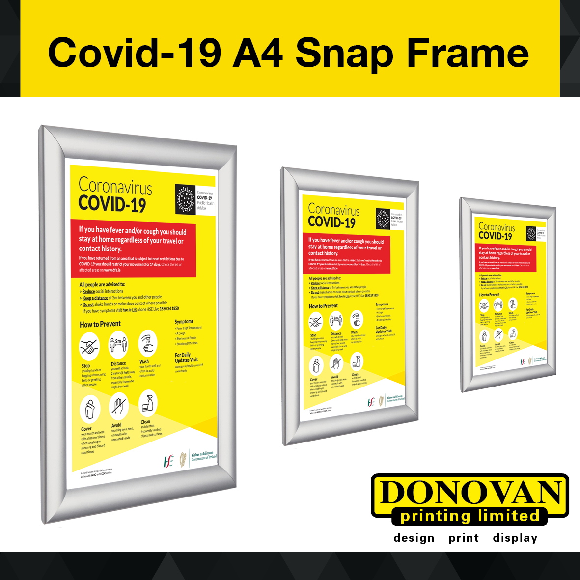 Covid A4 Snap frame & Pposter Image
