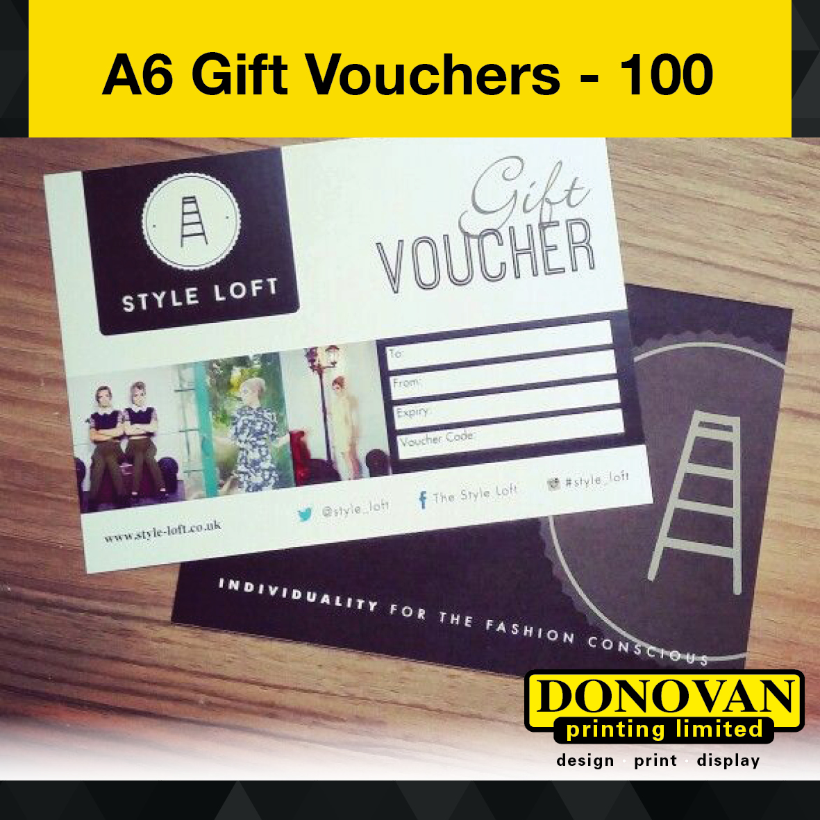 A6 Gift Voucher 2pp 100 Image