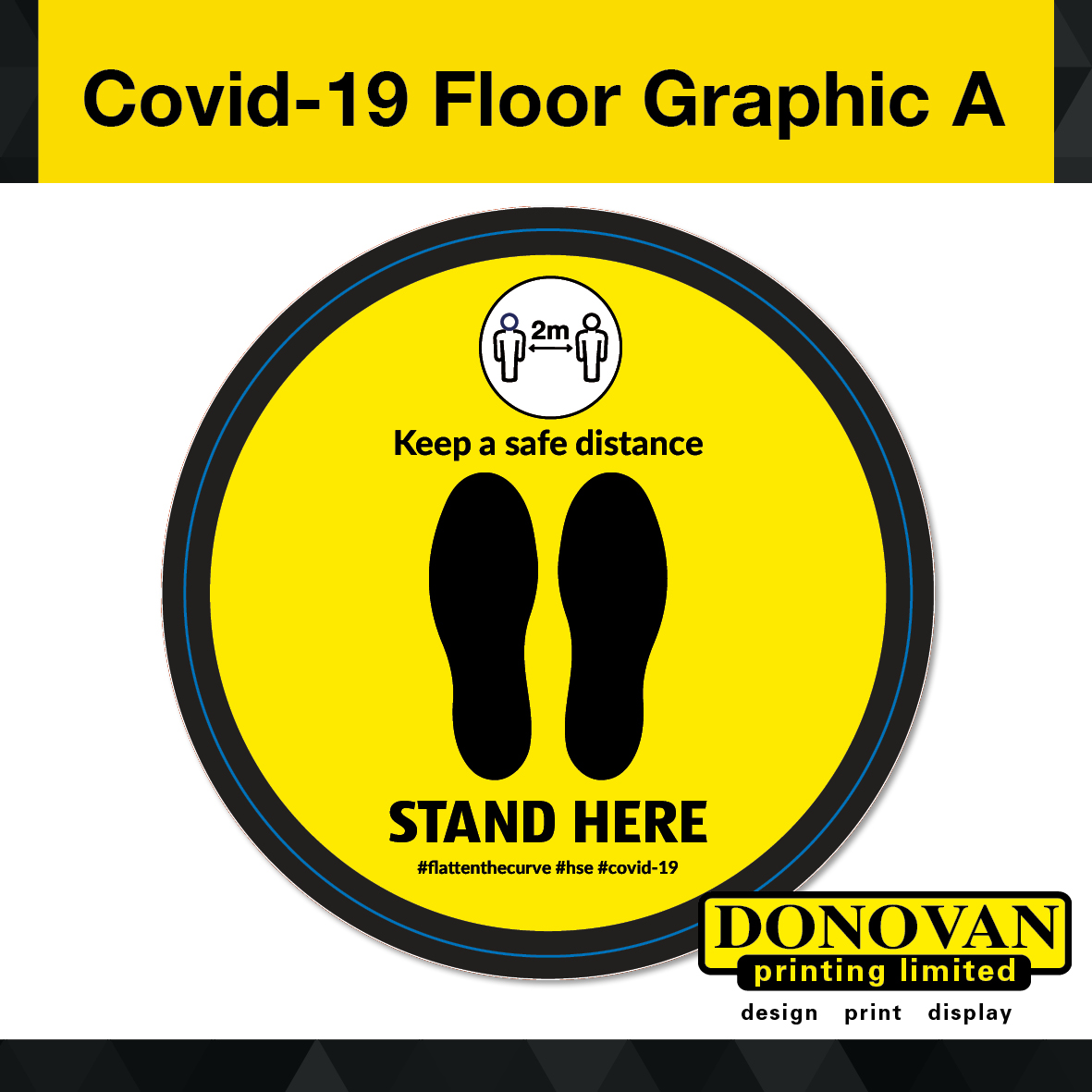 Covid Floor Graphic A Image