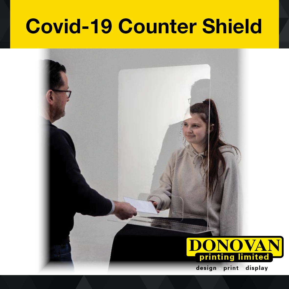 Covid Counter Shield 600mm Image