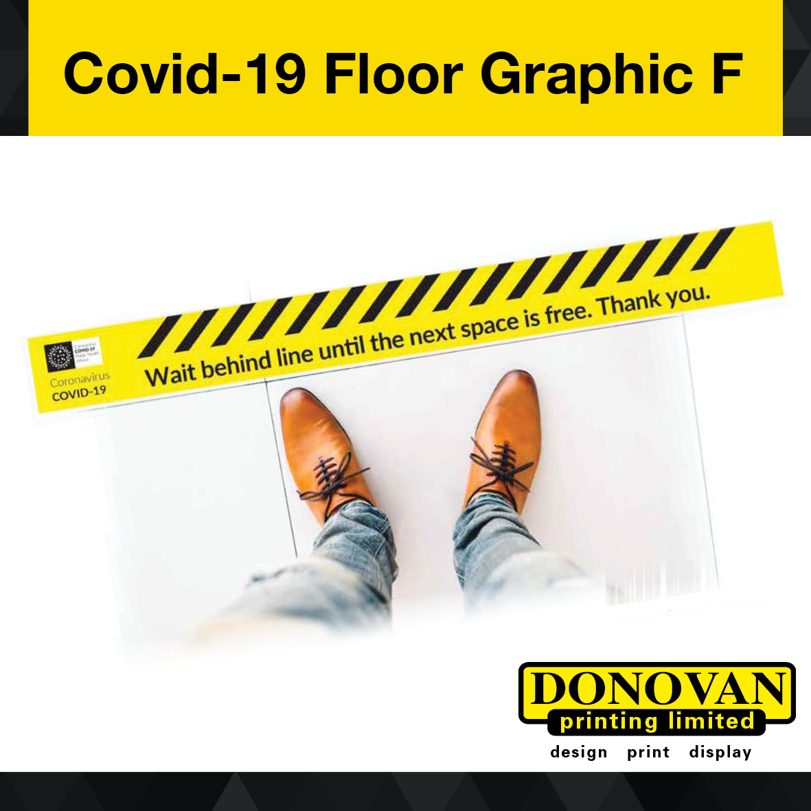 Covid Floor Graphic F Image