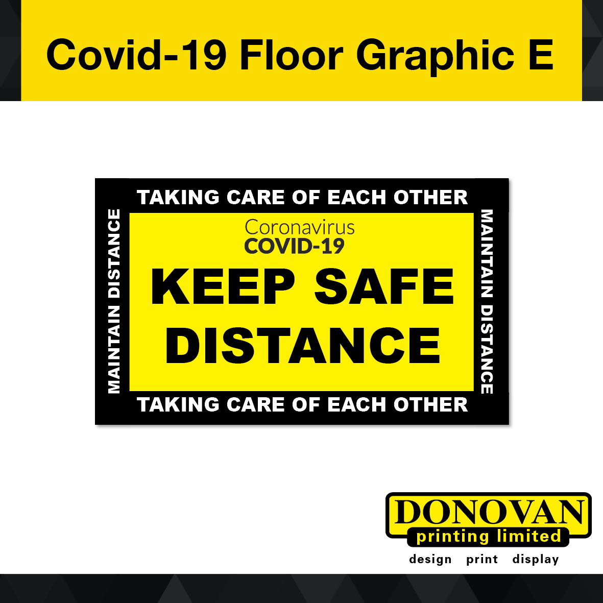 Covid Floor Graphic E Image