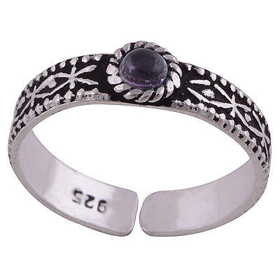 Sterling Silver Amethyst Toe Ring  Image