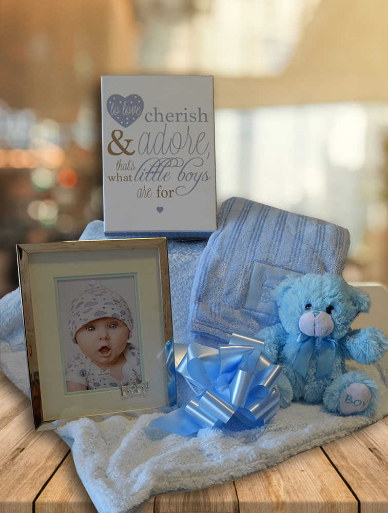 Bouncing Baby Boy Hamper Image