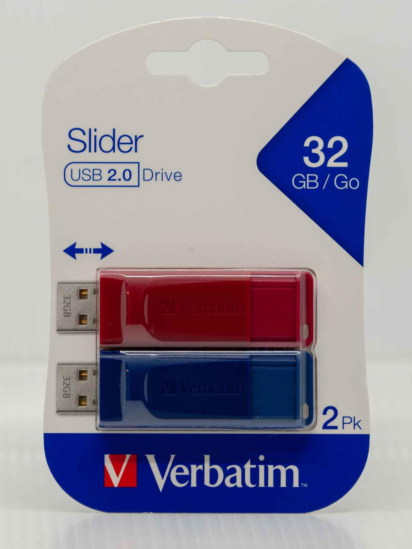 Verbatim Slider USB2.0 32GB  Twin Pack Flash Drives Image