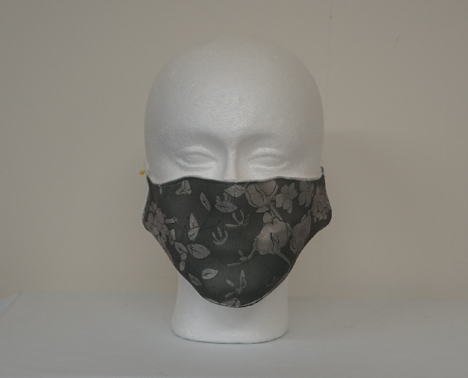 Sliver Floral Digital Print Face Mask Image