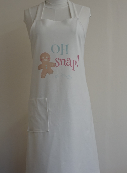 Christmas Apron with Gingerbread Image