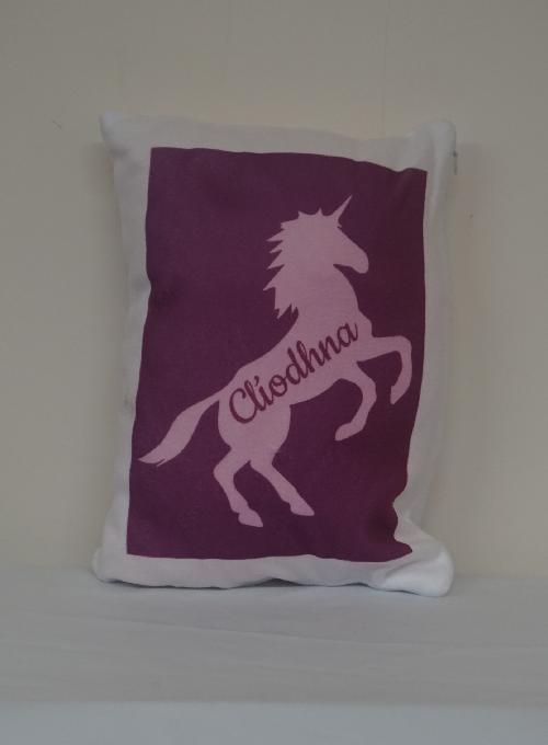 Unicorn Personalised Cushion Image